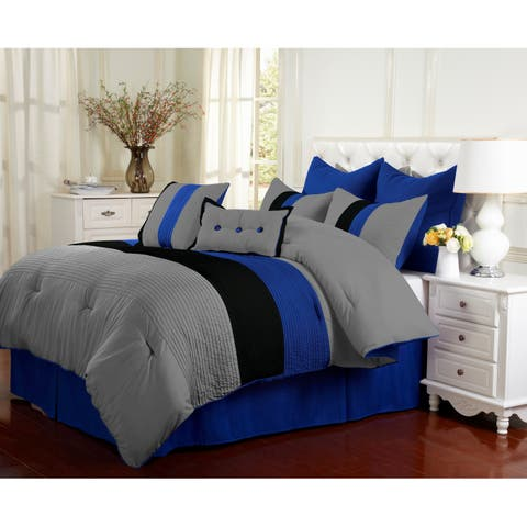 Superior Florence Blue 8-piece Comforter Set