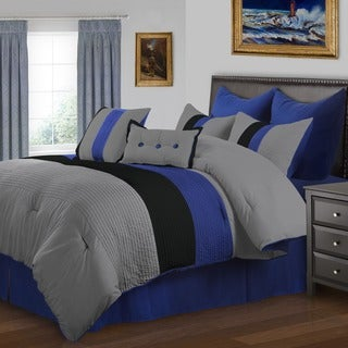 Superior Florence Blue 8-piece Comforter Set