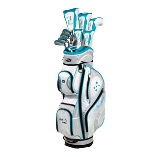 Ladies Right Hand 2014 Lady Edge Plus 1-inch White Teal Box