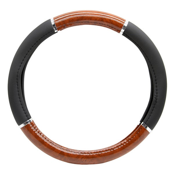 Fit 15 Inch Two Tone Steering Wheel Cover