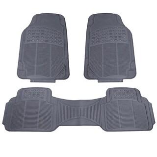 3pc Black Rubber Car SUV Mat