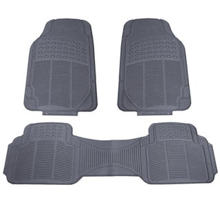 3pc Black Rubber Car SUV Mat