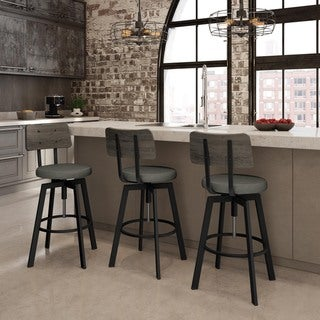 Carbon Loft Kettering Screw Industrial Adjustable Bar Stool