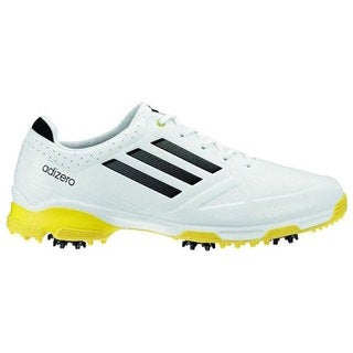 Adidas Men's Adizero 6-Spike White/ Black/ Yellow Golf Shoes