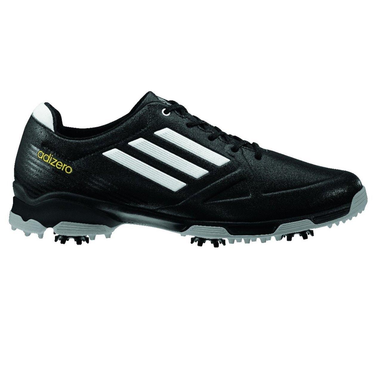 Adidas Men's Adizero 6-Spike Black/ White Golf Shoes (9 M...