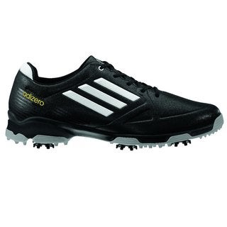 Adidas Men's Adizero 6-Spike Black/ White Golf Shoes