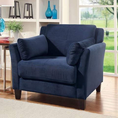 Furniture of America Sier Contemporary Flannelette Padded Armchair