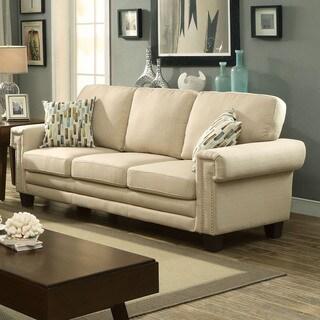 Jackie Buff Linen Like Fabric Sofa Reviews Deals