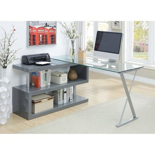 Oliver & James Mense Convertible Executive Desk (Option: Grey)