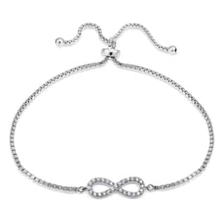 Icz Stonez Silver Cubic Zirconia Infinity Adjustable Slider Bracelet|https://ak1.ostkcdn.com/images/products/11177070/P18170374.jpg?impolicy=medium