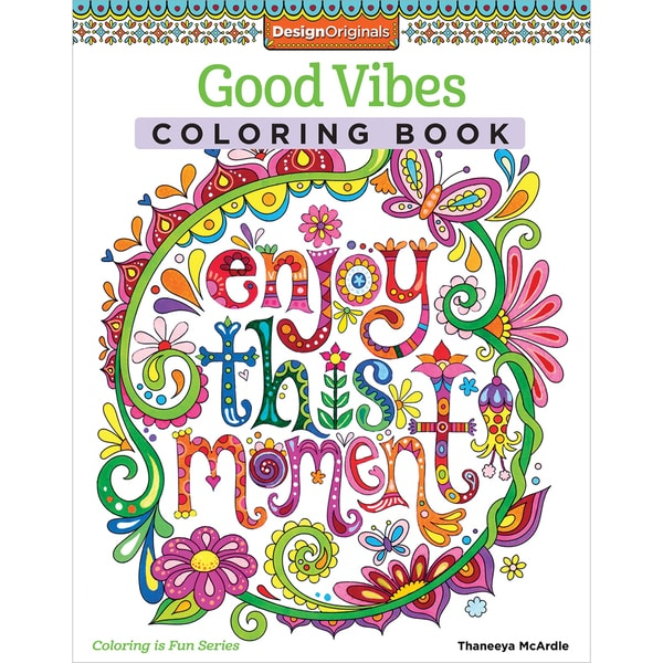 Design Originals Good Vibes Coloring Book