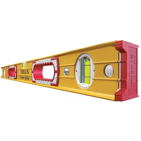 Stabila 37436 - 36-Inch Professional Builders Level - Red/White/Black/Yellow