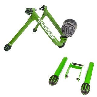 Kinetic Road Machine 2.0 Fluid Trainer w/ Kinetic T-580 Small Wheel Adapter Bundle