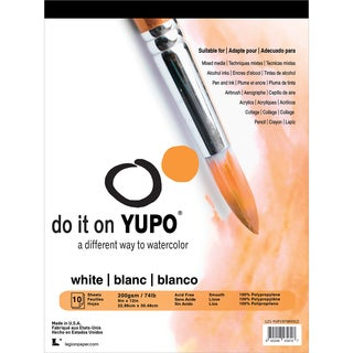 Yupo Paper 9inX12in 10 Sheets/Pkg White 74lb