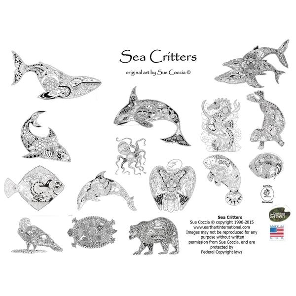 EarthArt Coloring Book Sea Critters