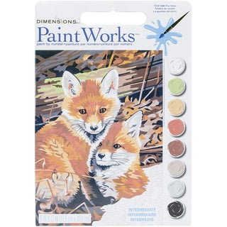 Paint Works Paint By Number Kit 9inX12in Fox Hole