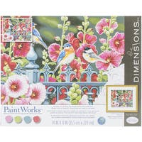 Paint Works Paint By Number Kit 14inX11in Hollyhock Gate