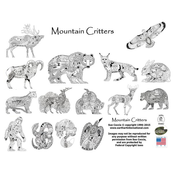 EarthArt Coloring Book Mountian Critters