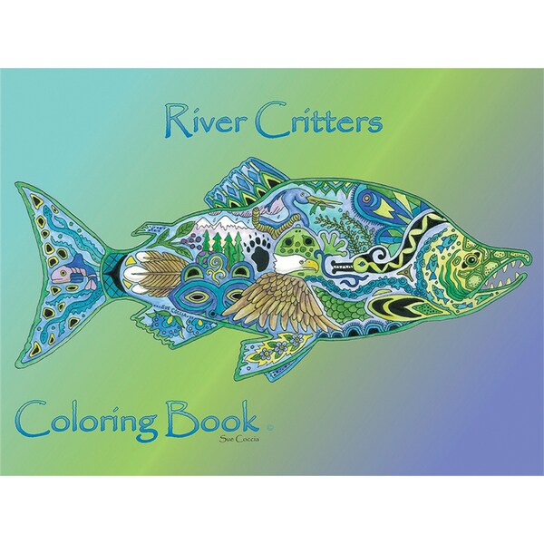 EarthArt Coloring Book River Critters