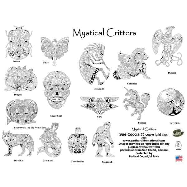 EarthArt Coloring Book Mystical Critters