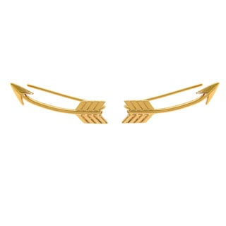 Eternally Haute 14k Goldplated or Rhodium-plated High Polished Cupids Arrow Climber