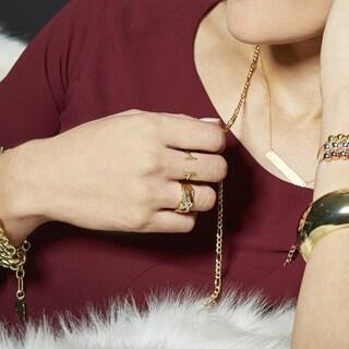 Eternally Haute 14k Goldplated Parallel Bar Ring