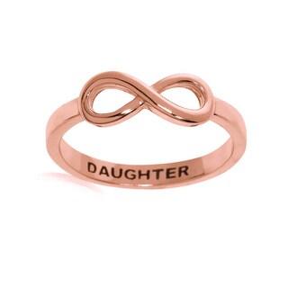 Eternally Haute 14k Rose Goldplated Sterling Silver Daughter Infinity Ring