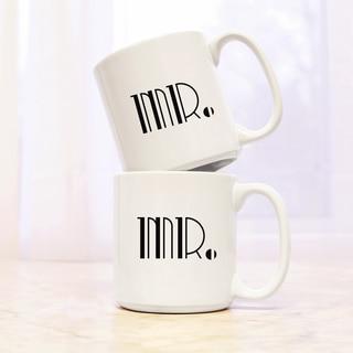 Mr. & Mr. Gatsby 20 oz. Large Coffee Mugs (Set of 2)