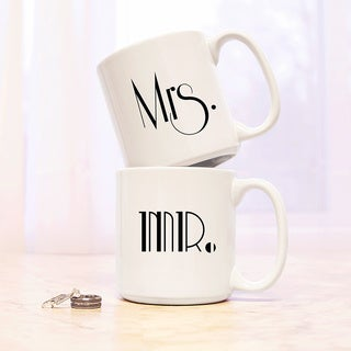 Mrs. & Mrs. Gatsby Large Coffee Mugs (Set of 2)