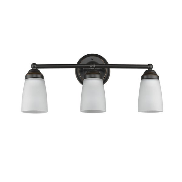 shop transitional 3 light bronze bath vanity light 10863