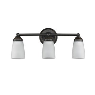 Chloe Transitional 3-light Bronze Bath/Vanity Light