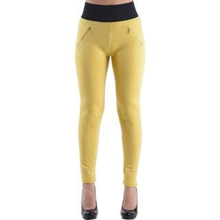 Dinamit Women's Mustard High Waisted Legging Pants|https://ak1.ostkcdn.com/images/products/11177383/P18170608.jpg?impolicy=medium