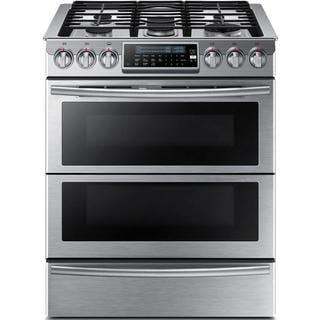 Samsung Chef Collection 30-inch Slide-in Dual Fuel Range