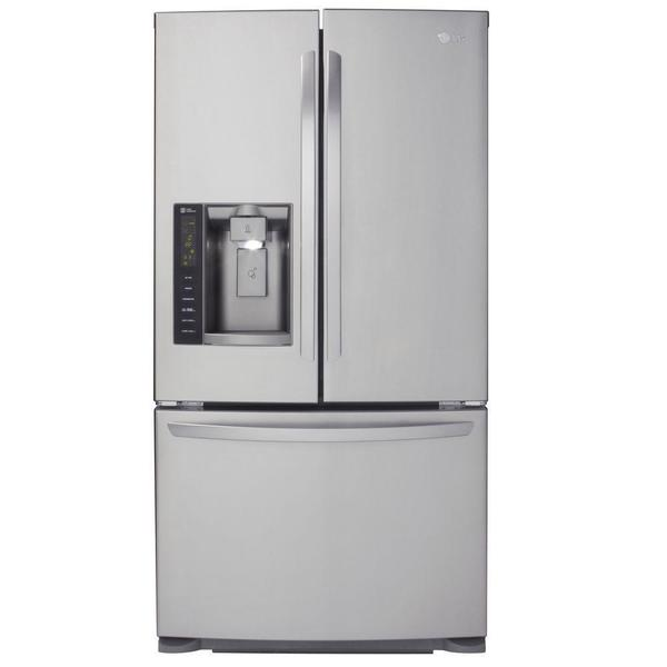 Lg 24 7 cubic foot french door refrigerator 18170623 for 18 cubic foot french door refrigerator