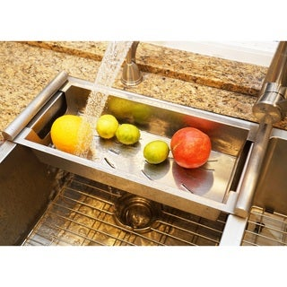 BOANN Modern Satin Stainless Kitchen Sink Colander
