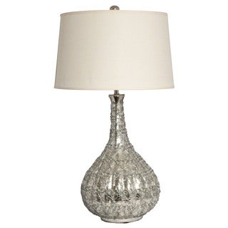Donna Intricate Wire 29-Inch Mercury Glass Tablle Lamp