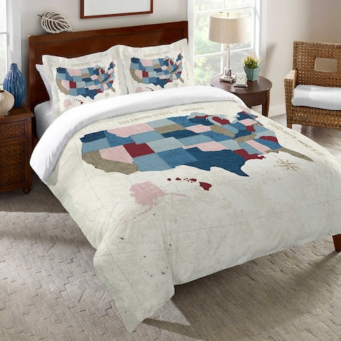 US Vintage Map Cotton Duvet Cover