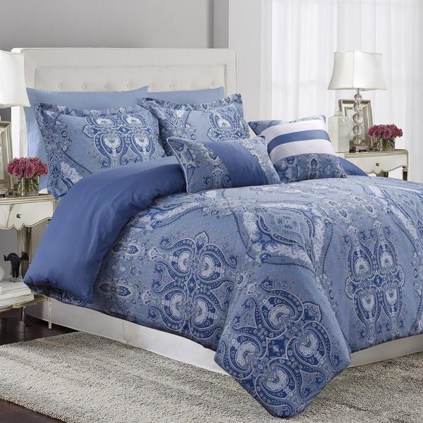 Atlantis 5-piece Printed Cotton Oversize Duvet Cover Set