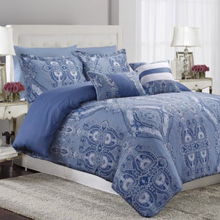 Atlantis 5-piece Printed Cotton Oversize Duvet Cover Set