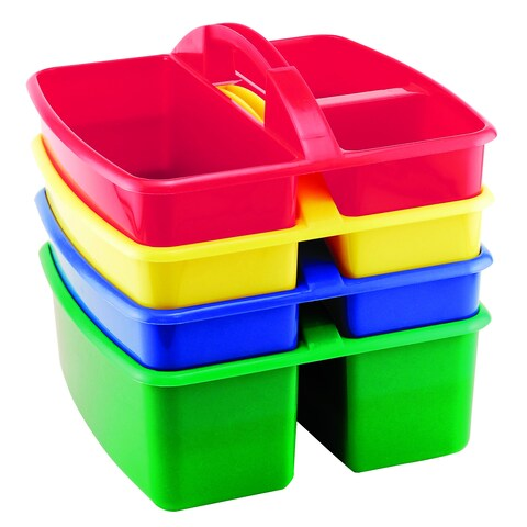 Art Storage Four 3-compartment Small Caddy (Pack of 4)