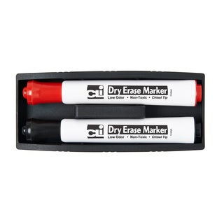 (8 EA) Eraser - Whiteboard - Magnetic w/ Two Markers