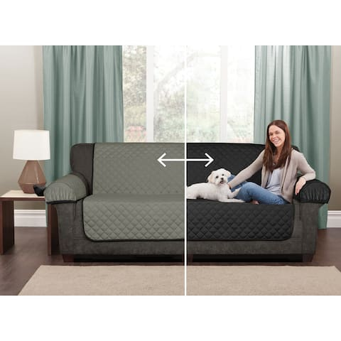 """Maytex Reversible Microfiber Sofa Pet Furniture Cover - 64.5x69"""" without arms"""