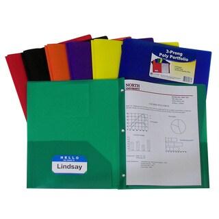 C-Line Two Pocket Poly Portfolios w/prongs, 36/box