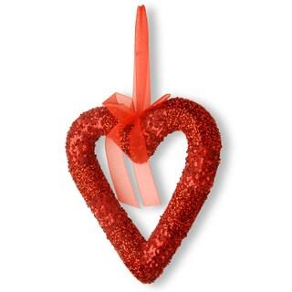 Red Bead Glittered Valentine Heart