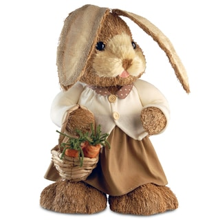 36-inch Brown Standing Rabbit