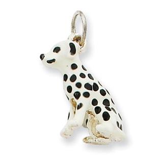 Versil Sterling Silver Enameled Dalmatian Charm