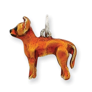 Versil Sterling Silver Enameled Full Chihuahua Charm