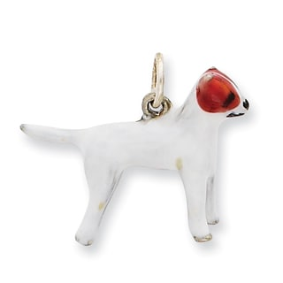 Versil Sterling Silver Enameled Jack Russell Charm