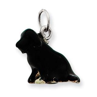 Versil Sterling Silver Enameled Newfoundland Terrier Charm