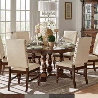 Flatiron Burnished Oak Finish Dining Set by iNSPIRE Q Classic